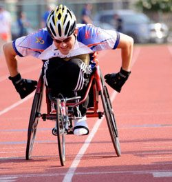 NMEDA National Mobility Awareness Spokesperson Recognized at Wheelchair Games