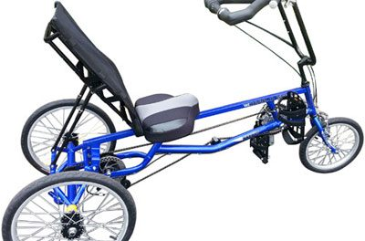 Adaptive Recumbent Trike Allows for Cycling with Use of One Arm