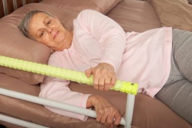 Safety Glo Bedside Handrail's Soft Grip Glows, Targets Optimized Bedside Mobility