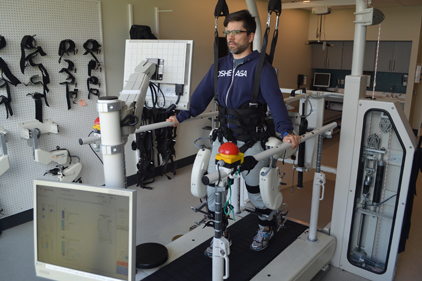 Rehabilitation Robots Test Stride Response in Spaulding-Harvard Study