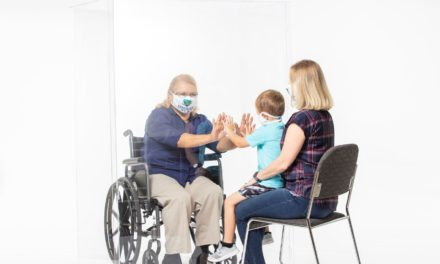 Invisible Wall Protects Wheelchair Users from COVID-19